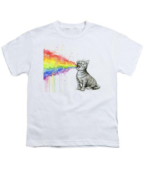 Kitten Tastes The Rainbow Youth T-Shirt
