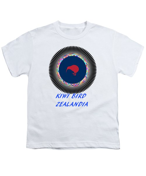 Kiwi Bird Zealandia Mandala Youth T-Shirt by Peter Gumaer Ogden
