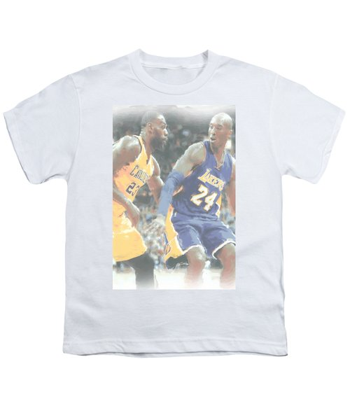 Kobe Bryant Lebron James 2 Youth T-Shirt by Joe Hamilton
