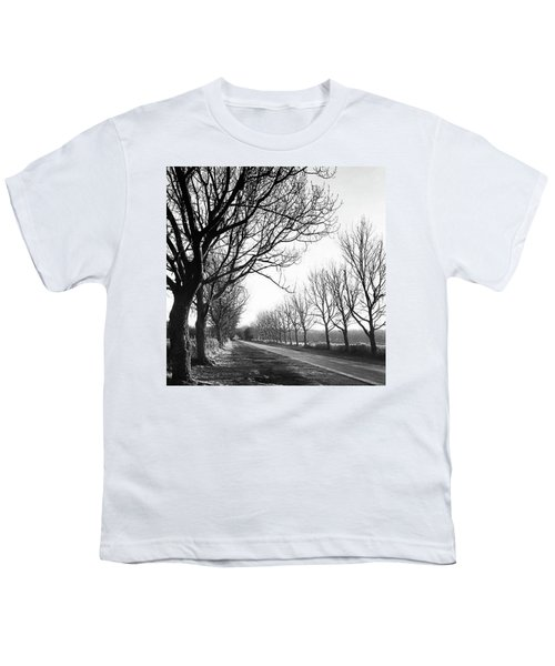 Lady Anne's Drive, Holkham Youth T-Shirt by John Edwards