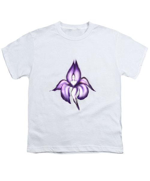 Lady Iris Youth T-Shirt by Awen Fine Art Prints