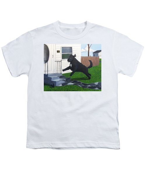 Lady Leaps The Small Front Stairs Youth T-Shirt