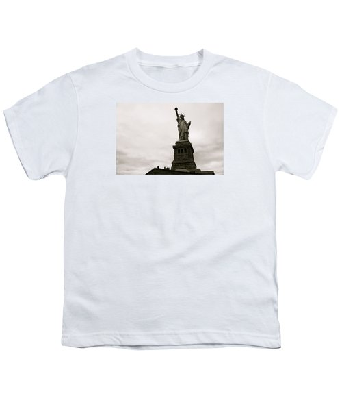 Lady Liberty Youth T-Shirt by Mark Nowoslawski