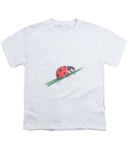 Ladybug Art Print, Ladybug Painting, Garden Nursery Print Art, Red Wall Decor, Garden Wall Art Youth T-Shirt