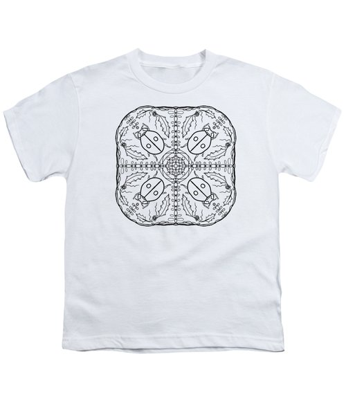 Ladybug Mandala Youth T-Shirt by Tanya Provines