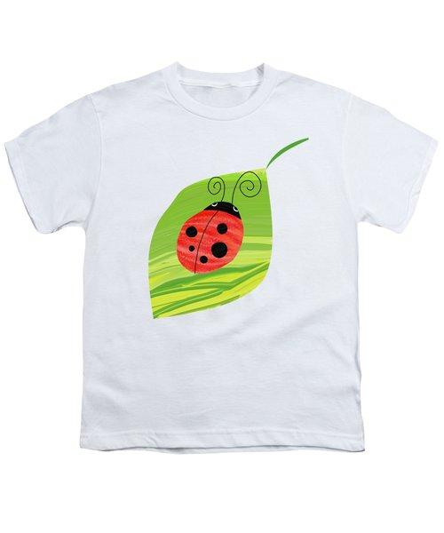 Ladybug On Leaf Youth T-Shirt