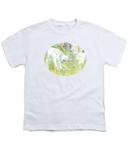 Lamb And Lilies - Verse Youth T-Shirt by Anita Faye