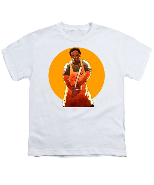 Youth T-Shirt featuring the drawing Leatherface by Jorgo Photography - Wall Art Gallery