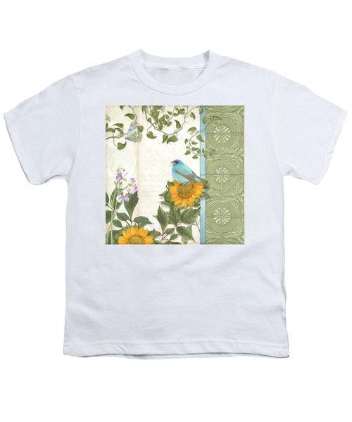 Les Magnifiques Fleurs Iv - Secret Garden Youth T-Shirt by Audrey Jeanne Roberts
