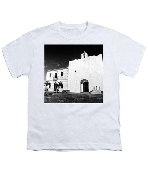 Fortified Church, Formentera Youth T-Shirt by John Edwards
