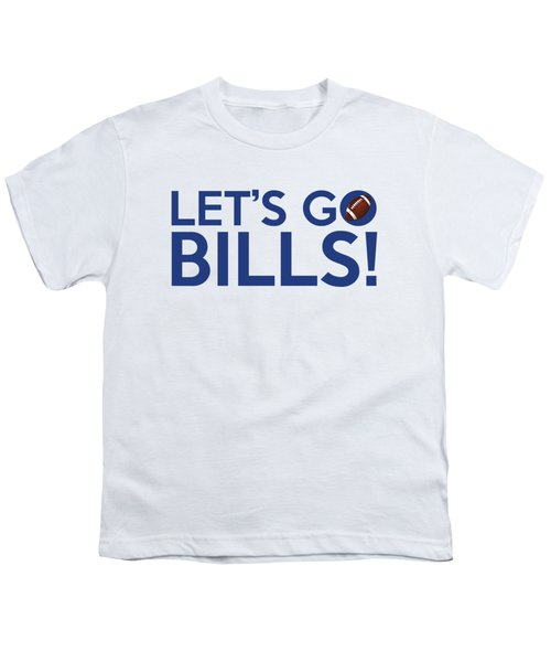 Let's Go Bills Youth T-Shirt by Florian Rodarte