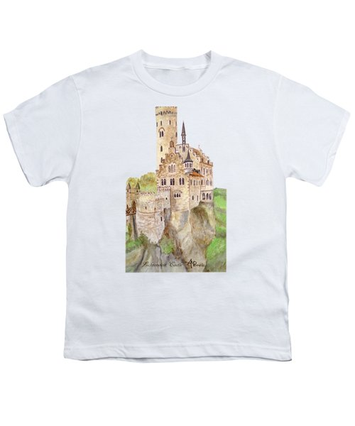 Lichtenstein Castle Youth T-Shirt by Angeles M Pomata