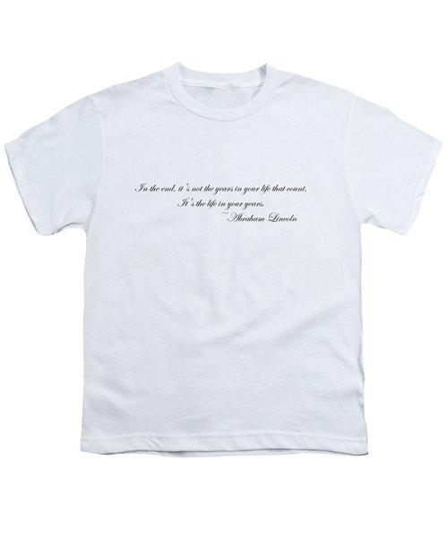 Life In Your Years Youth T-Shirt by Robert Eldridge