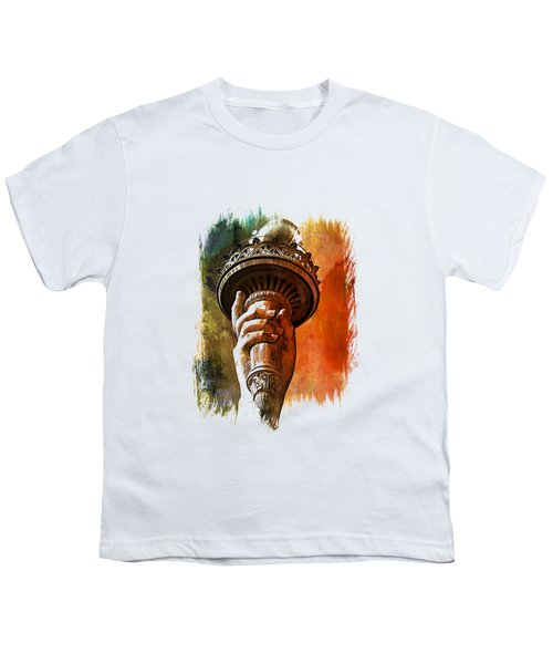 Light The Path Art 1 Youth T-Shirt by Di Designs