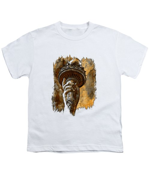 Light The Path Earthy 3 Dimensional Youth T-Shirt by Di Designs