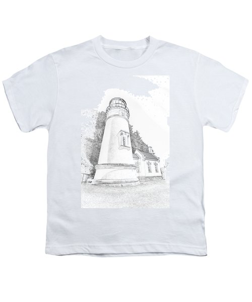 Lighthouse In Oregon Youth T-Shirt