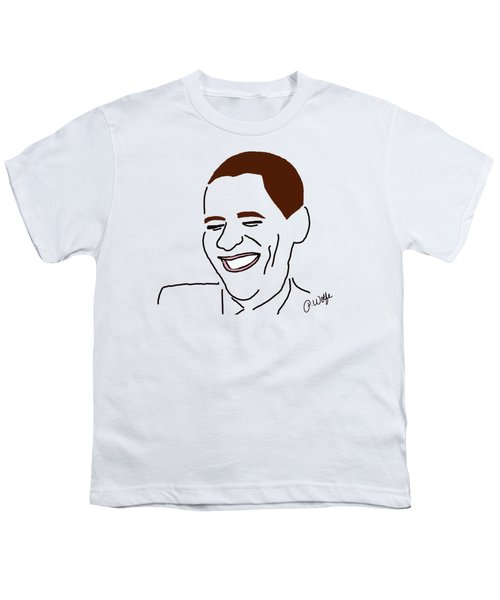 Line Art Man Youth T-Shirt by Priscilla Wolfe