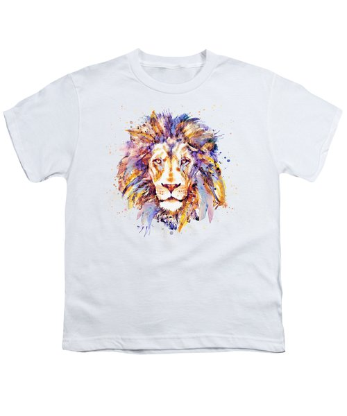 Lion Head Youth T-Shirt by Marian Voicu