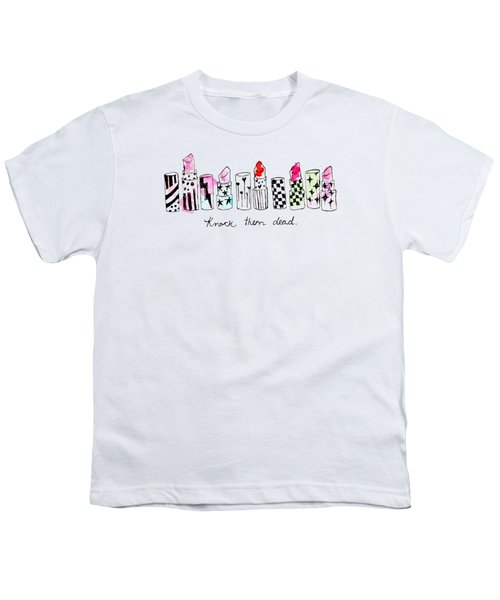 Lipstick Galore Youth T-Shirt by Elizabeth Taylor
