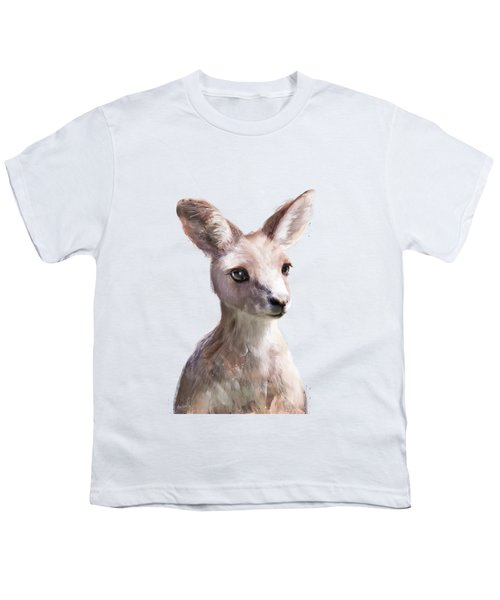 Little Kangaroo Youth T-Shirt by Amy Hamilton