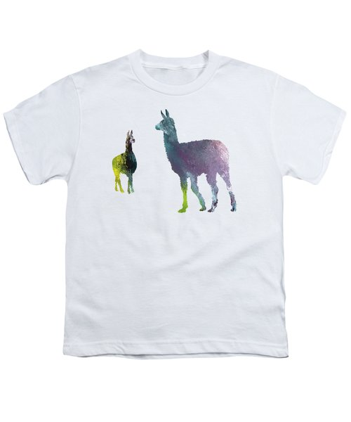 Llama Youth T-Shirt by Mordax Furittus