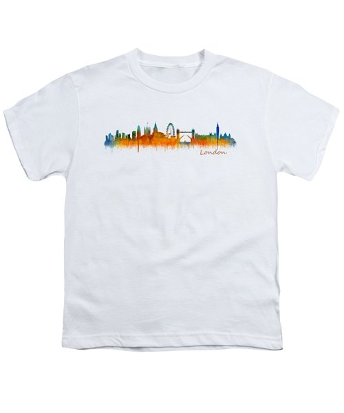 London City Skyline Hq V2 Youth T-Shirt by HQ Photo