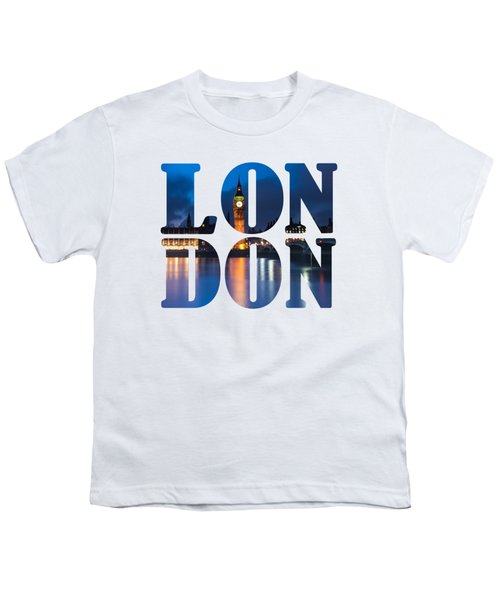 London Letters Youth T-Shirt by Matt Malloy
