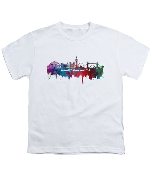 London Skyline City Blue Youth T-Shirt