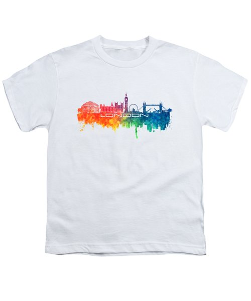 London Skyline City Color Youth T-Shirt
