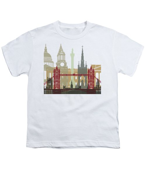 London Skyline Poster Youth T-Shirt