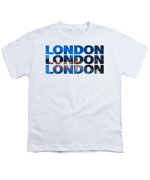 London Text Youth T-Shirt by Matt Malloy