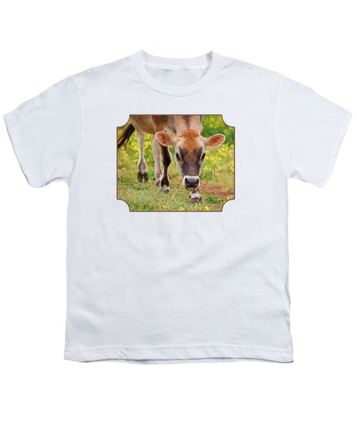 Look Into My Eyes - Painterly Youth T-Shirt by Gill Billington