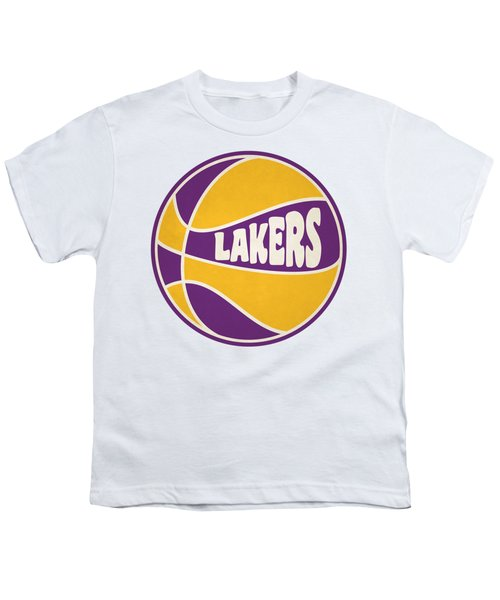 Los Angeles Lakers Retro Shirt Youth T-Shirt by Joe Hamilton