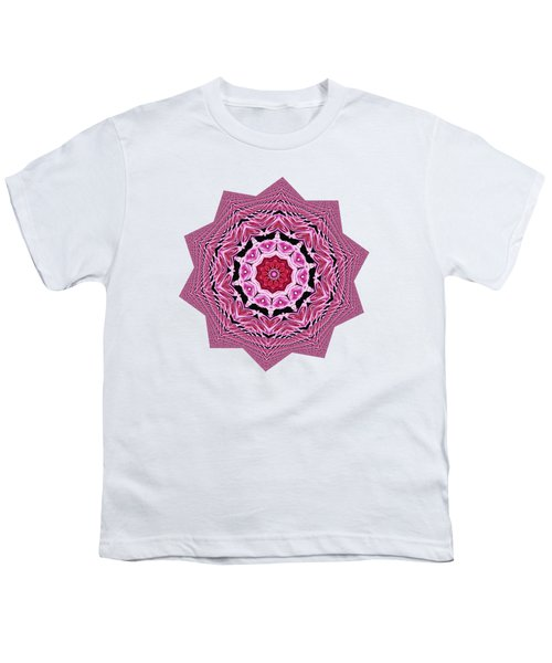 Loving Rose Mandala By Kaye Menner Youth T-Shirt by Kaye Menner
