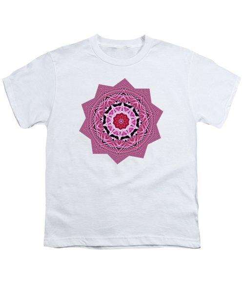 Loving Rose Mandala By Kaye Menner Youth T-Shirt