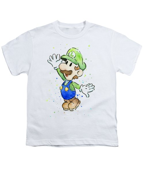 Luigi Watercolor Youth T-Shirt