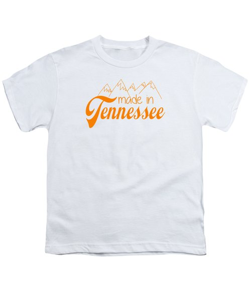 Made In Tennessee Orange Youth T-Shirt by Heather Applegate