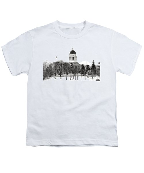 Maine State Capitol In Winter Youth T-Shirt