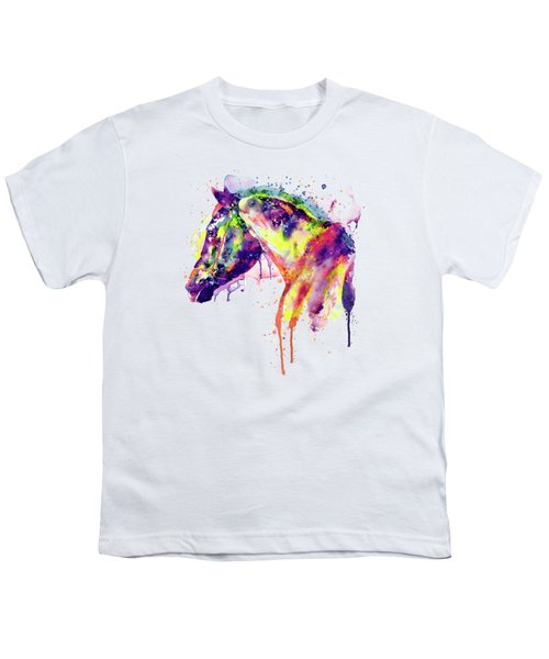 Majestic Horse Youth T-Shirt by Marian Voicu