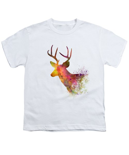 Male Deer 02 In Watercolor Youth T-Shirt