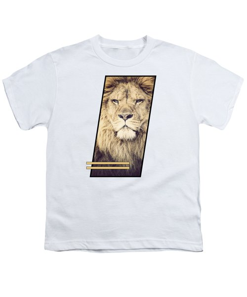Male Lion Youth T-Shirt by Sven Horn
