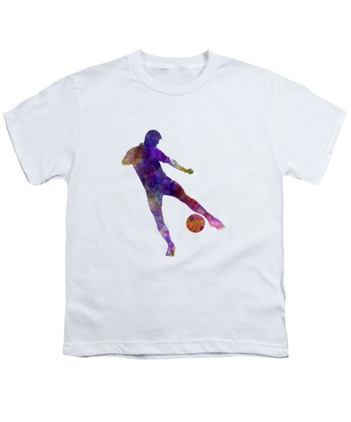Man Soccer Football Player 02 Youth T-Shirt by Pablo Romero