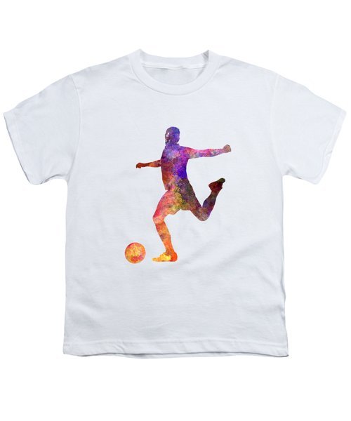 Man Soccer Football Player 03 Youth T-Shirt by Pablo Romero