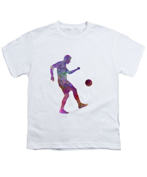 Man Soccer Football Player 04 Youth T-Shirt by Pablo Romero