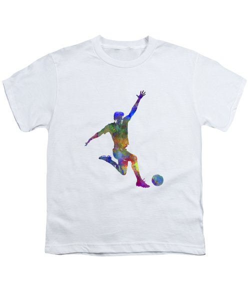 Man Soccer Football Player 05 Youth T-Shirt by Pablo Romero