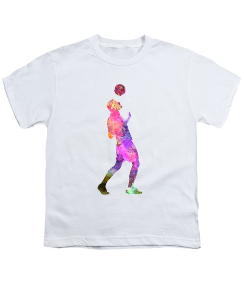 Man Soccer Football Player 06 Youth T-Shirt by Pablo Romero
