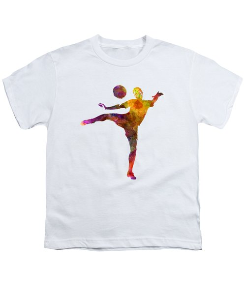 Man Soccer Football Player 07 Youth T-Shirt by Pablo Romero