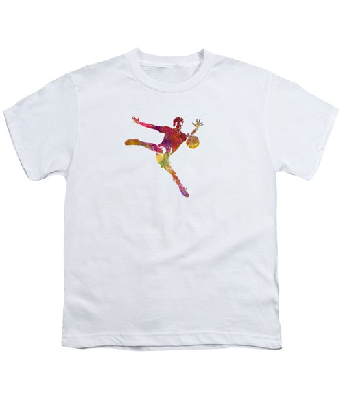 Man Soccer Football Player 08 Youth T-Shirt by Pablo Romero