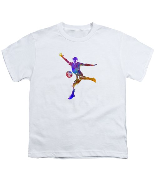 Man Soccer Football Player 14 Youth T-Shirt by Pablo Romero