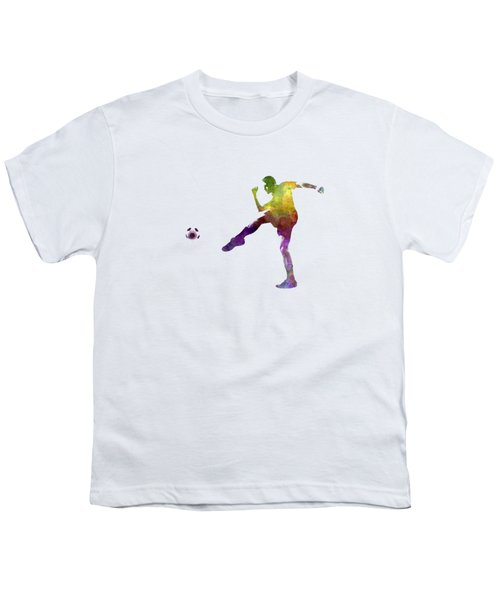 Man Soccer Football Player 15 Youth T-Shirt by Pablo Romero